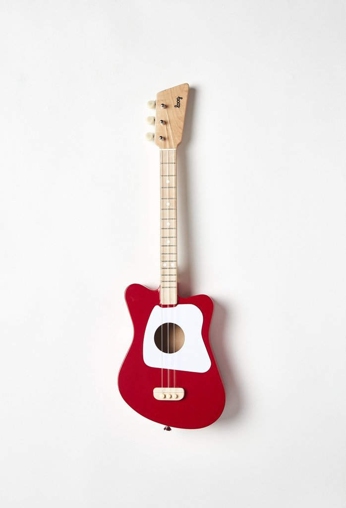 Loog Mini Acoustic Guitar: Red