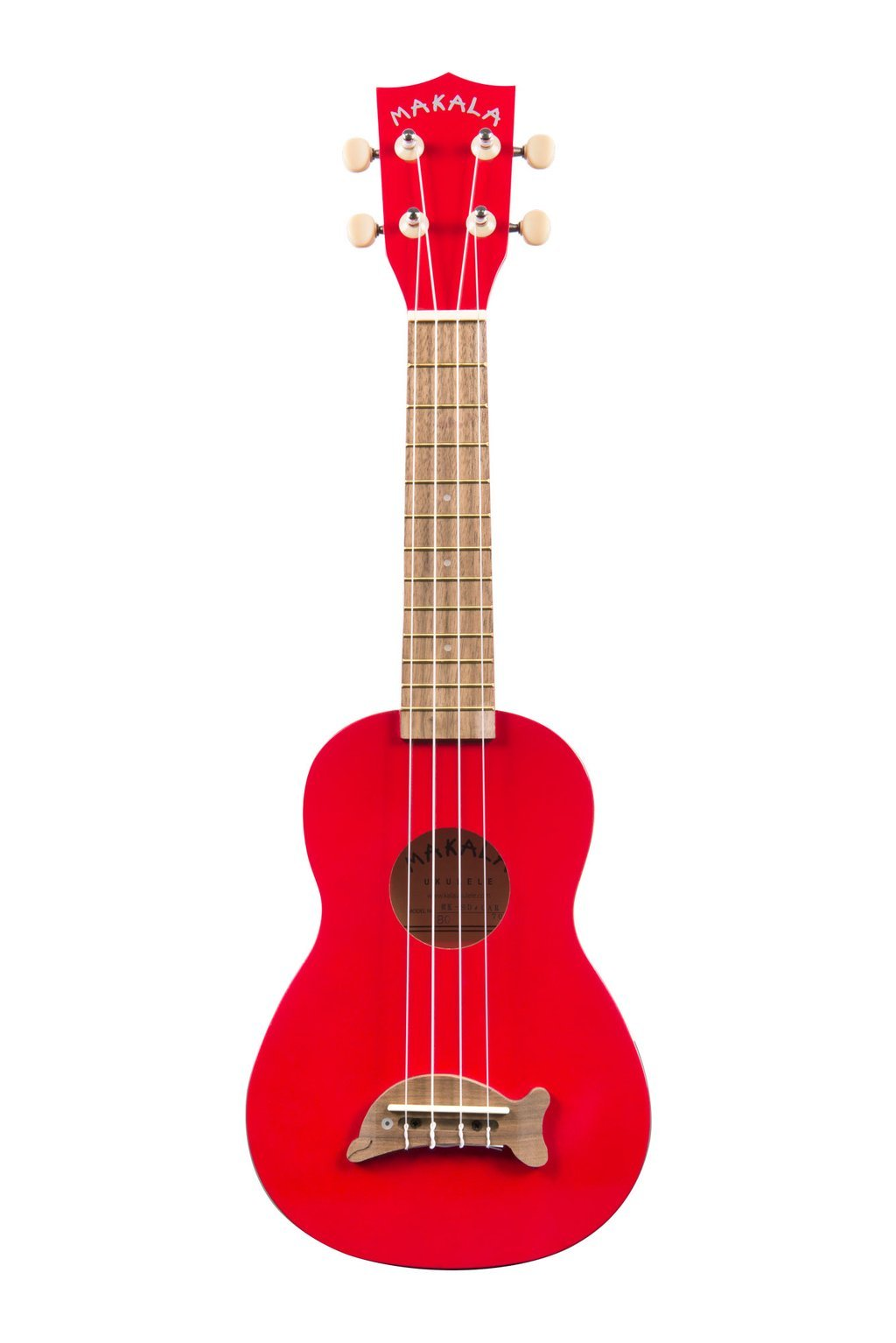 Makala Dolphin Soprano Ukulele - Candy Apple Red