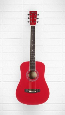 Tanara Acoustic Guitar 1/2 size          (Red)