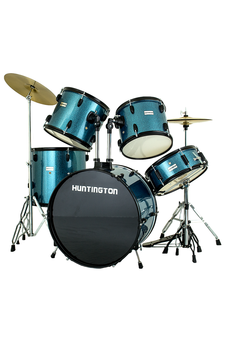 Huntington DRM500-STQ 5 Piece Drum Kit (Turquoise)