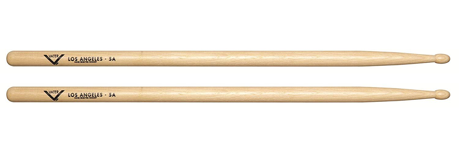 Vater  Los Angeles 5A Wood Tip Hickory Drum Sticks, Pair