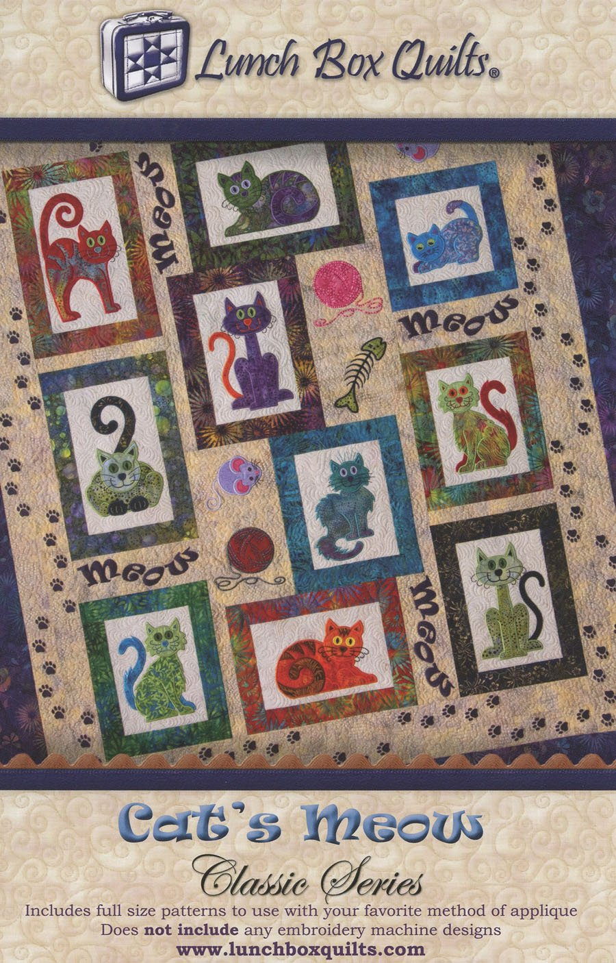 Lunch Box Quilts : lunch box quilts cats meow - Adamdwight.com