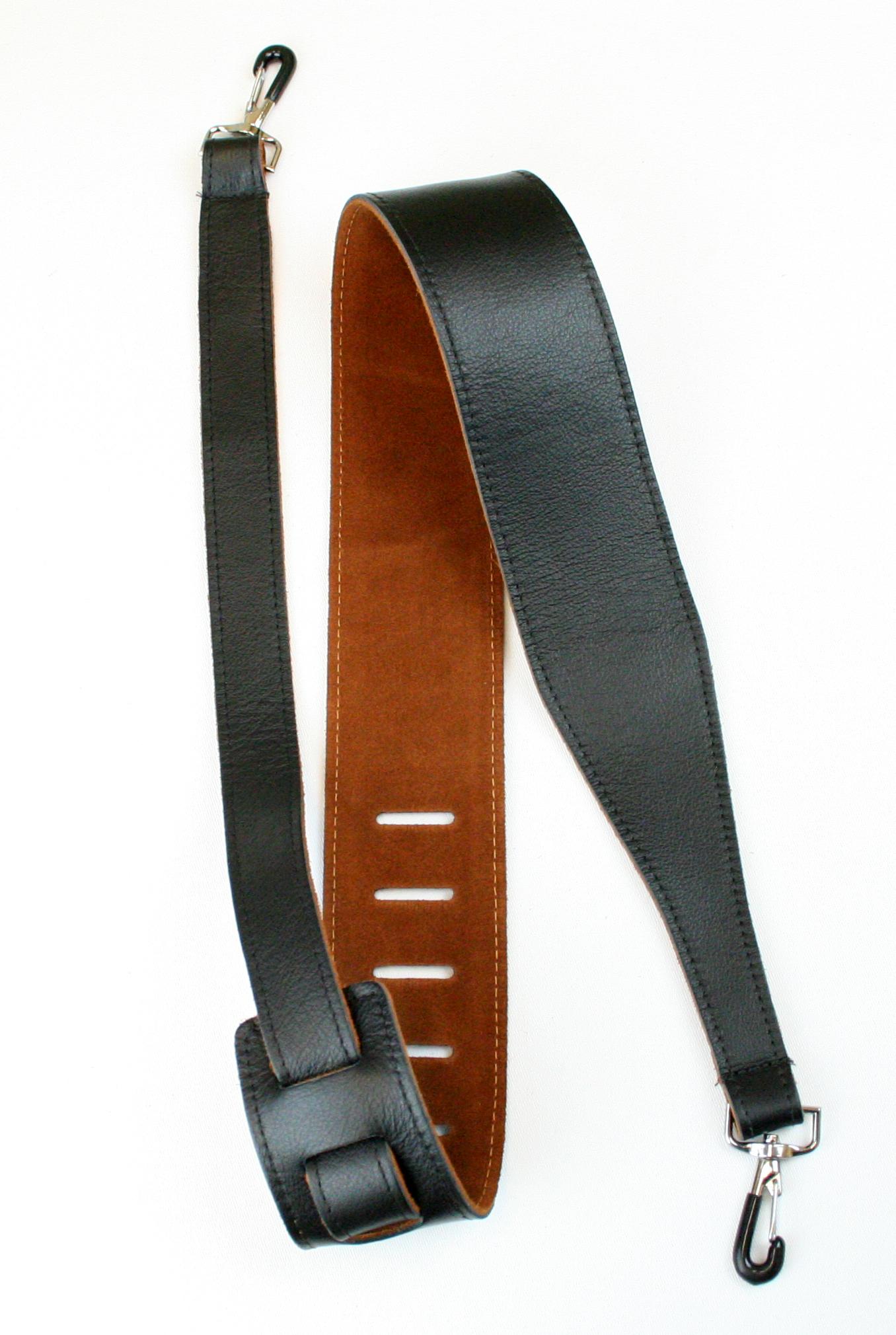 D'Addario 25SLBNJ02-DX Garment Leather Banjo Strap with Coated Metal Hooks