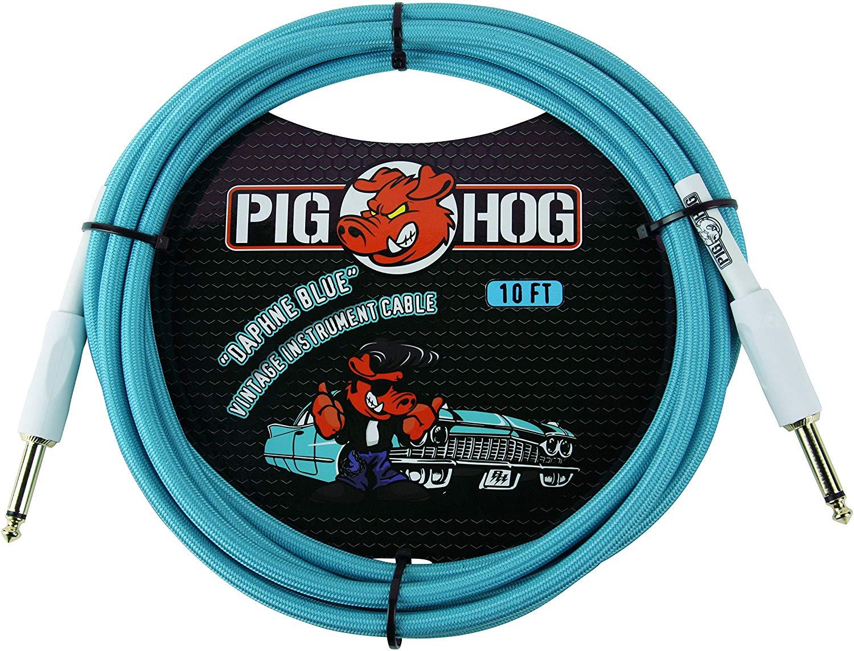 Pig Hog Daphne Blue Instrument Cable 10ft