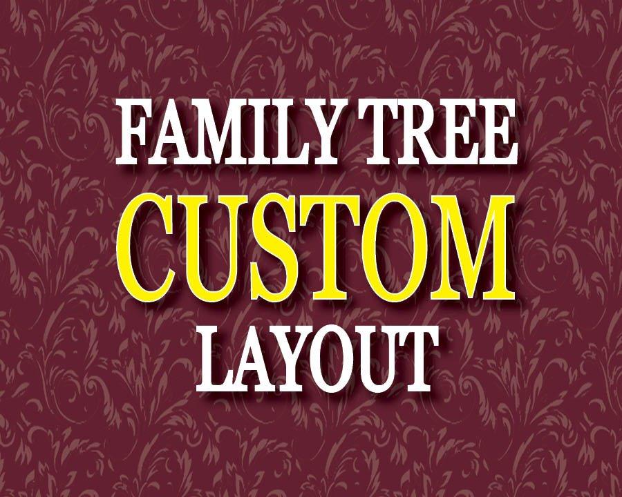 CUSTOM LAYOUT Photo Family Tree