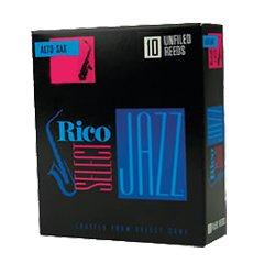 Rico Select Jazz Alto Sax 10 Unfiled Reeds - Soft