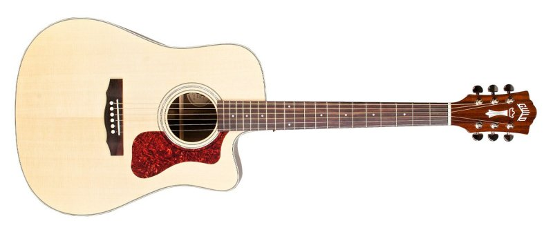 Guild Acoustic Guitar D-150CE Natural Cutaway Electric
