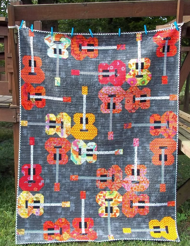 Strummin'...Quilt KIT - Orange