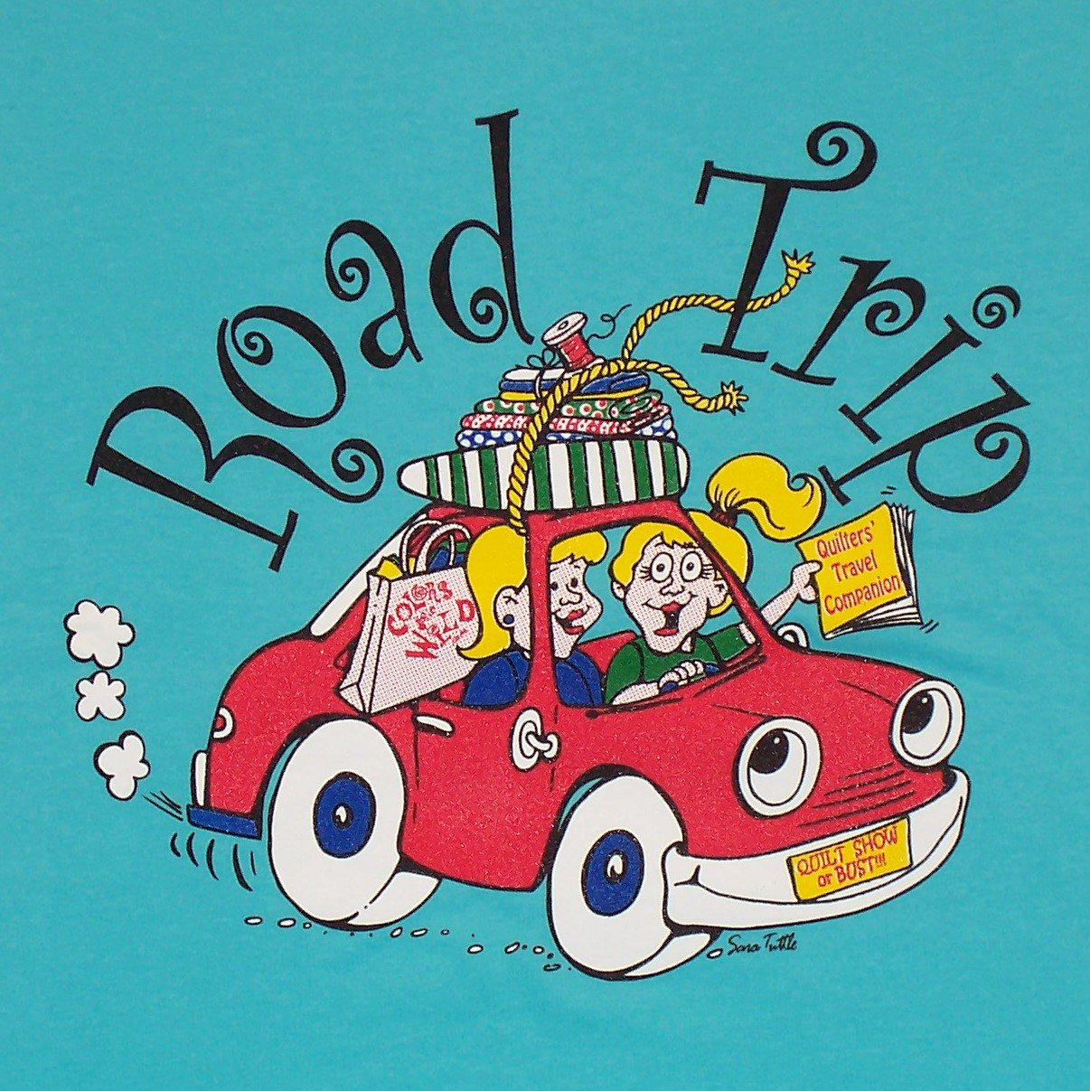 quilt shop road trip t-shirt