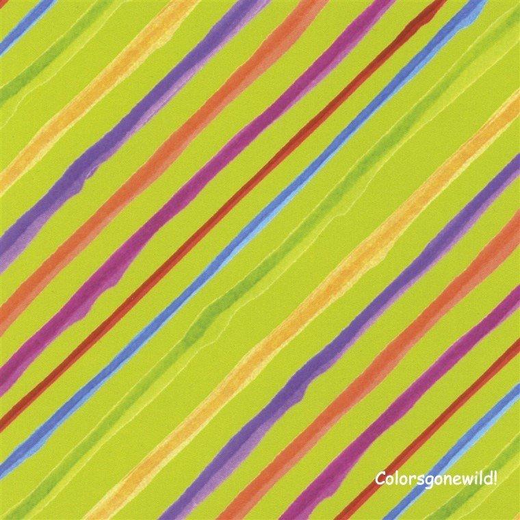 Calico Stripe - Fat Quarter