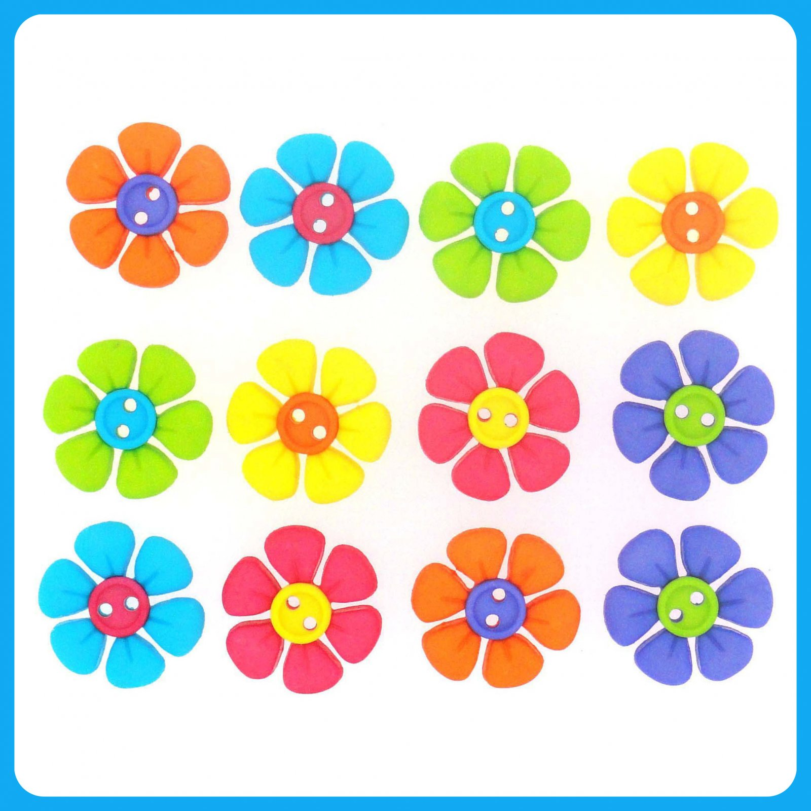 Sew Cute...Button Flowers