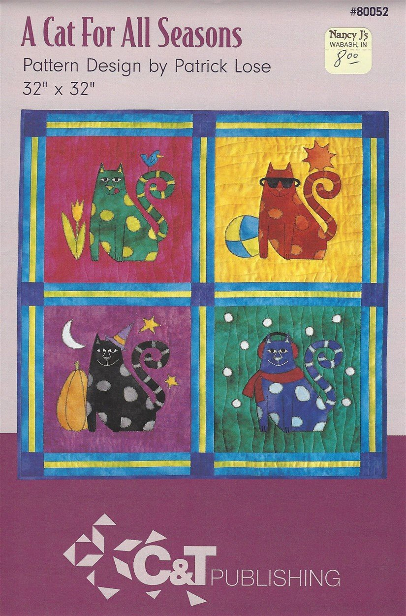 A Cat for All Seasons...Quilt KIT
