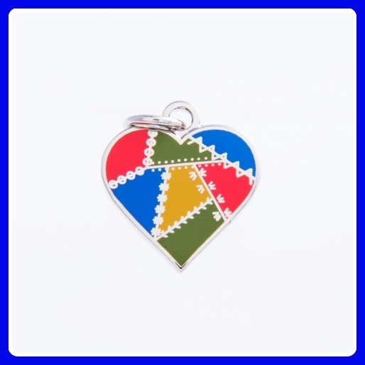 Quilt Charm...Patched Heart