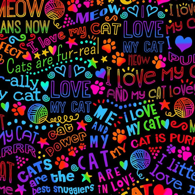 I Love My Cat Rainbow