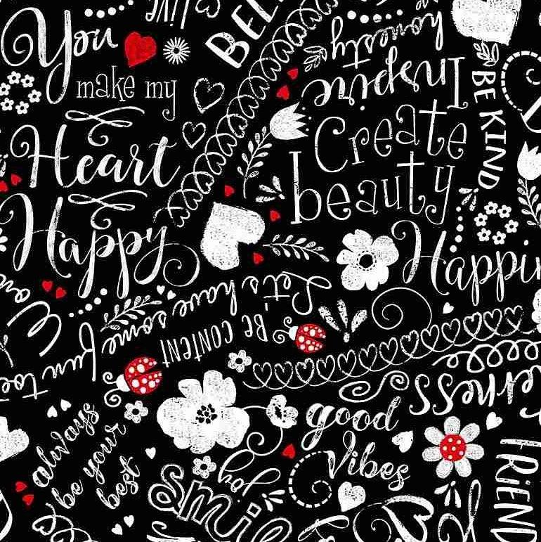 Happy Words Scribbles