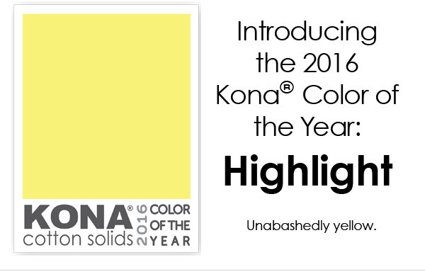 KONA Cotton Solids...2016 Color of the Year