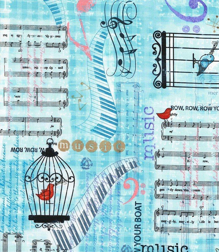 Row by Row...Sew Musical - Fat Quarter