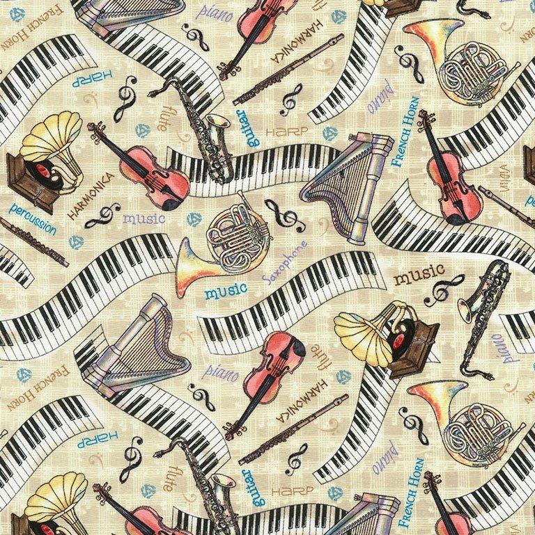 Row by Row...Sew Musical - Fat Quarter