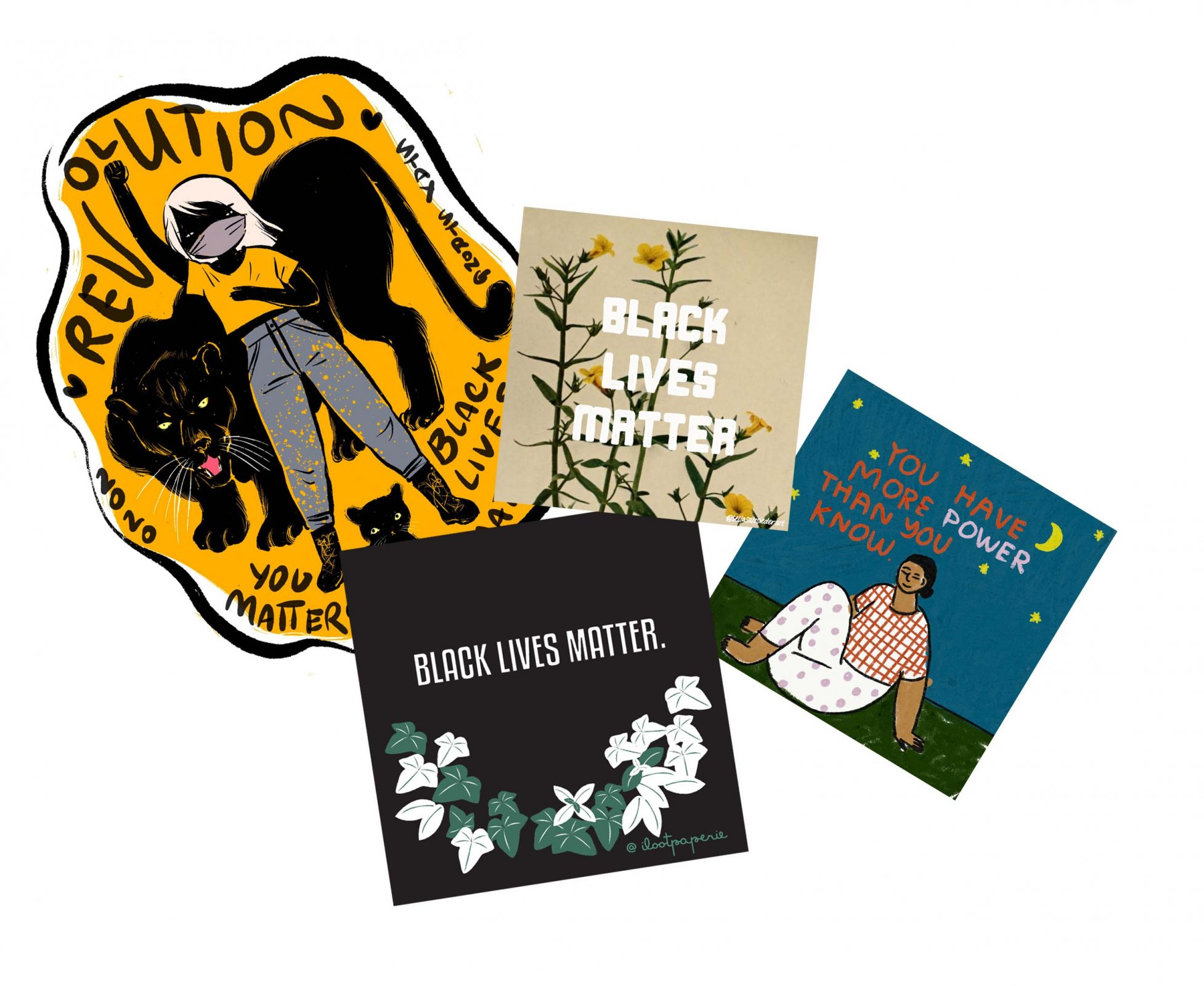 Black Lives Matter sticker set