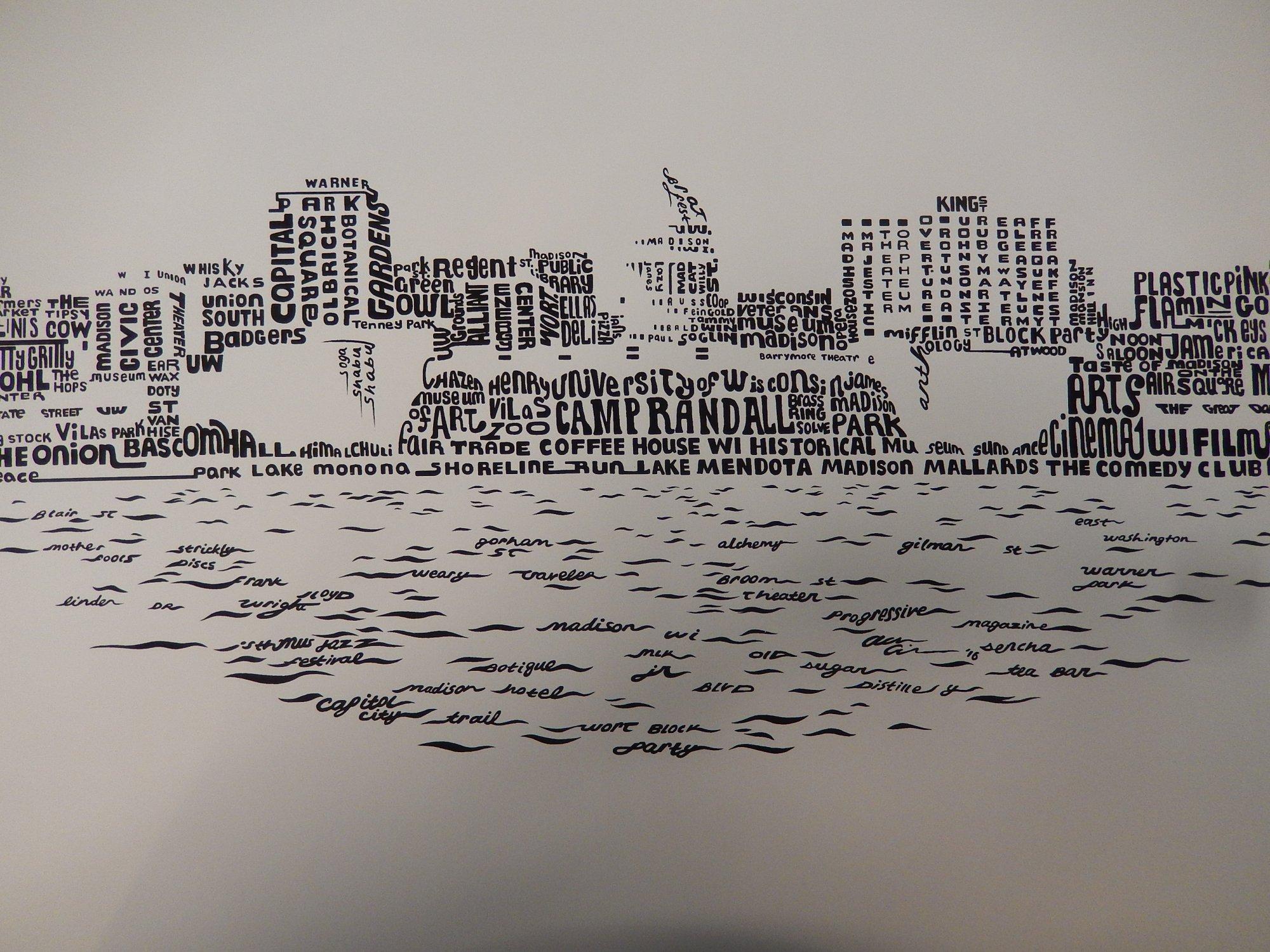 Madison skyline print
