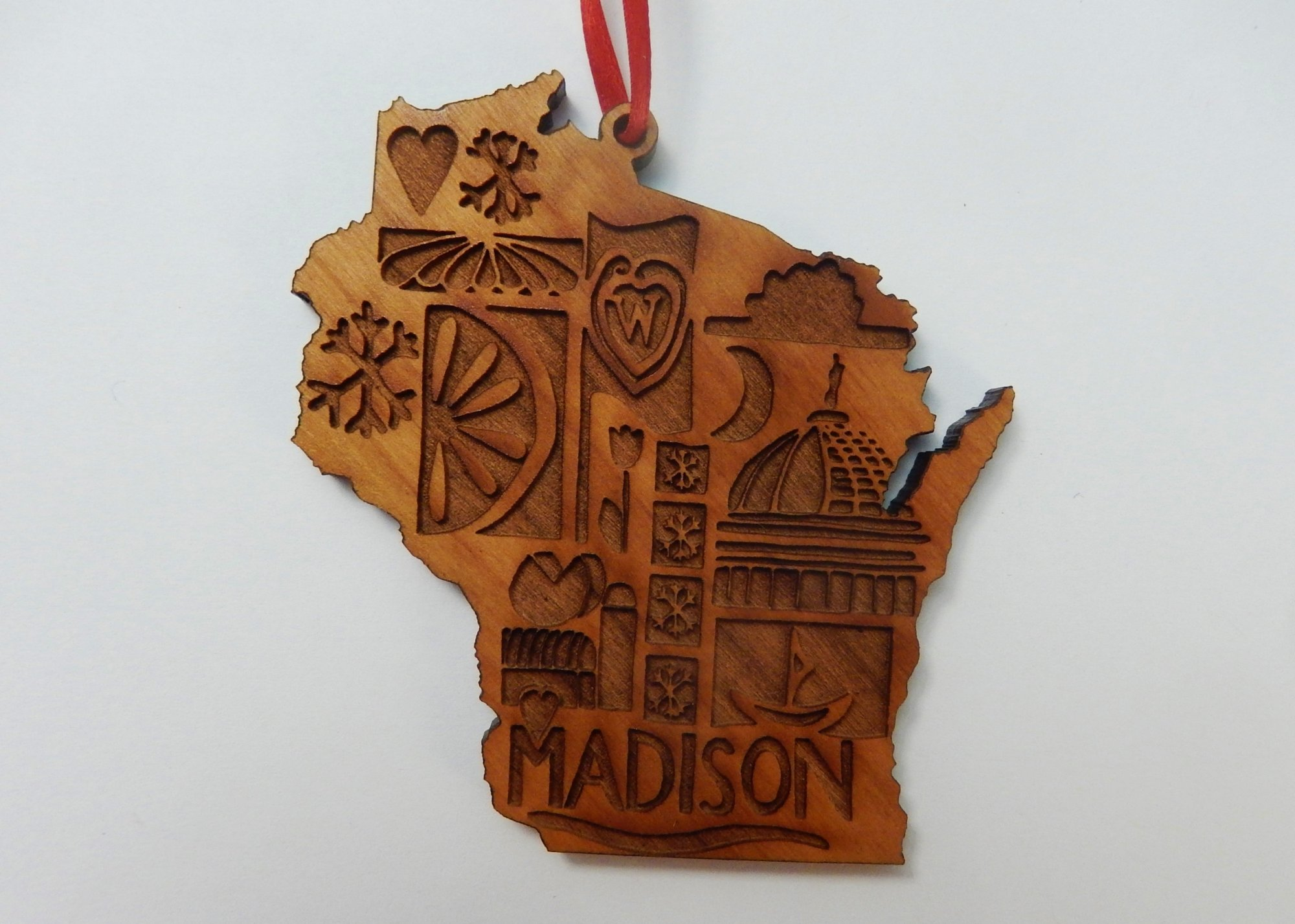 Madison patchwork ornament