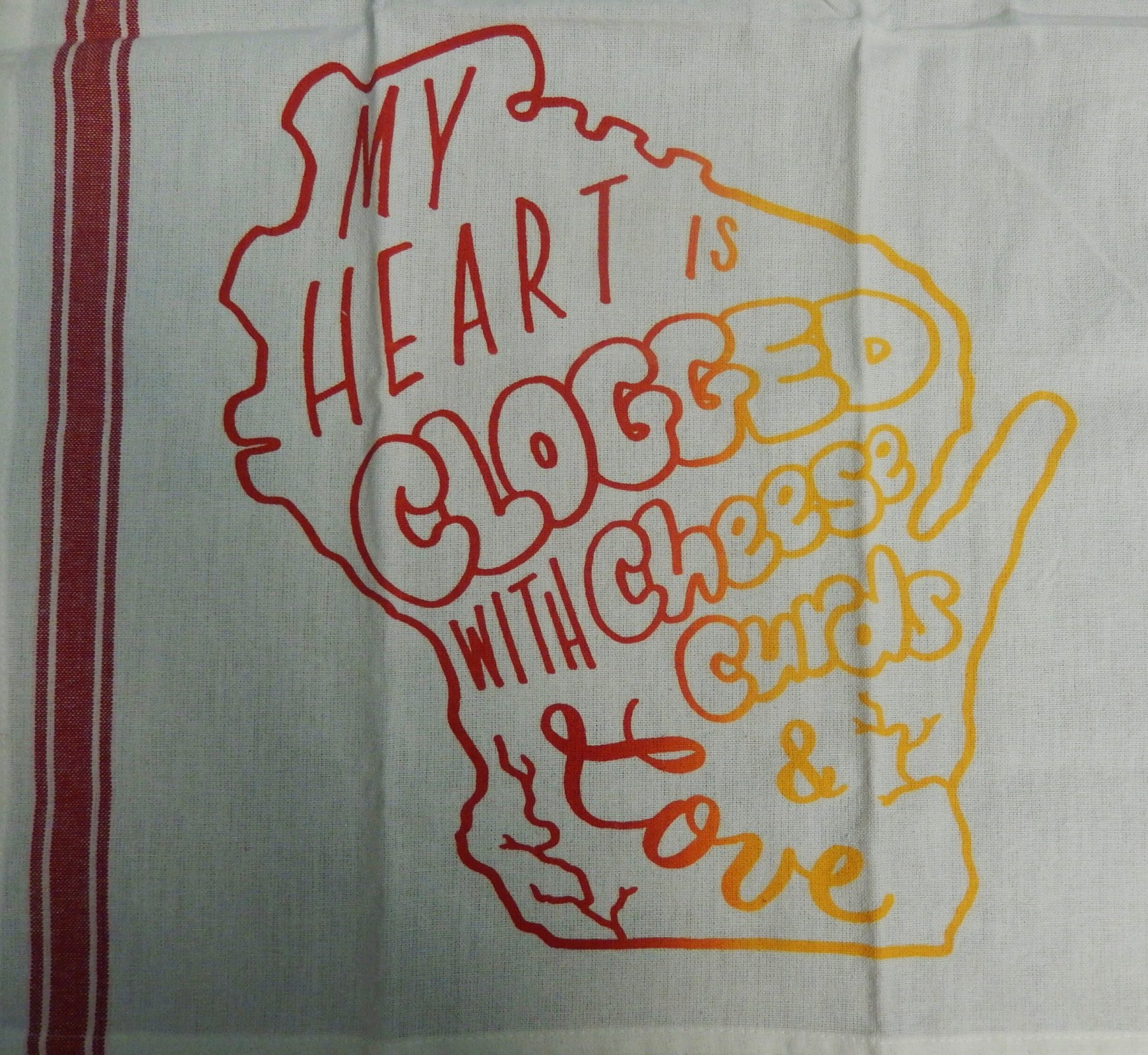 Clogged Heart Tea Towel