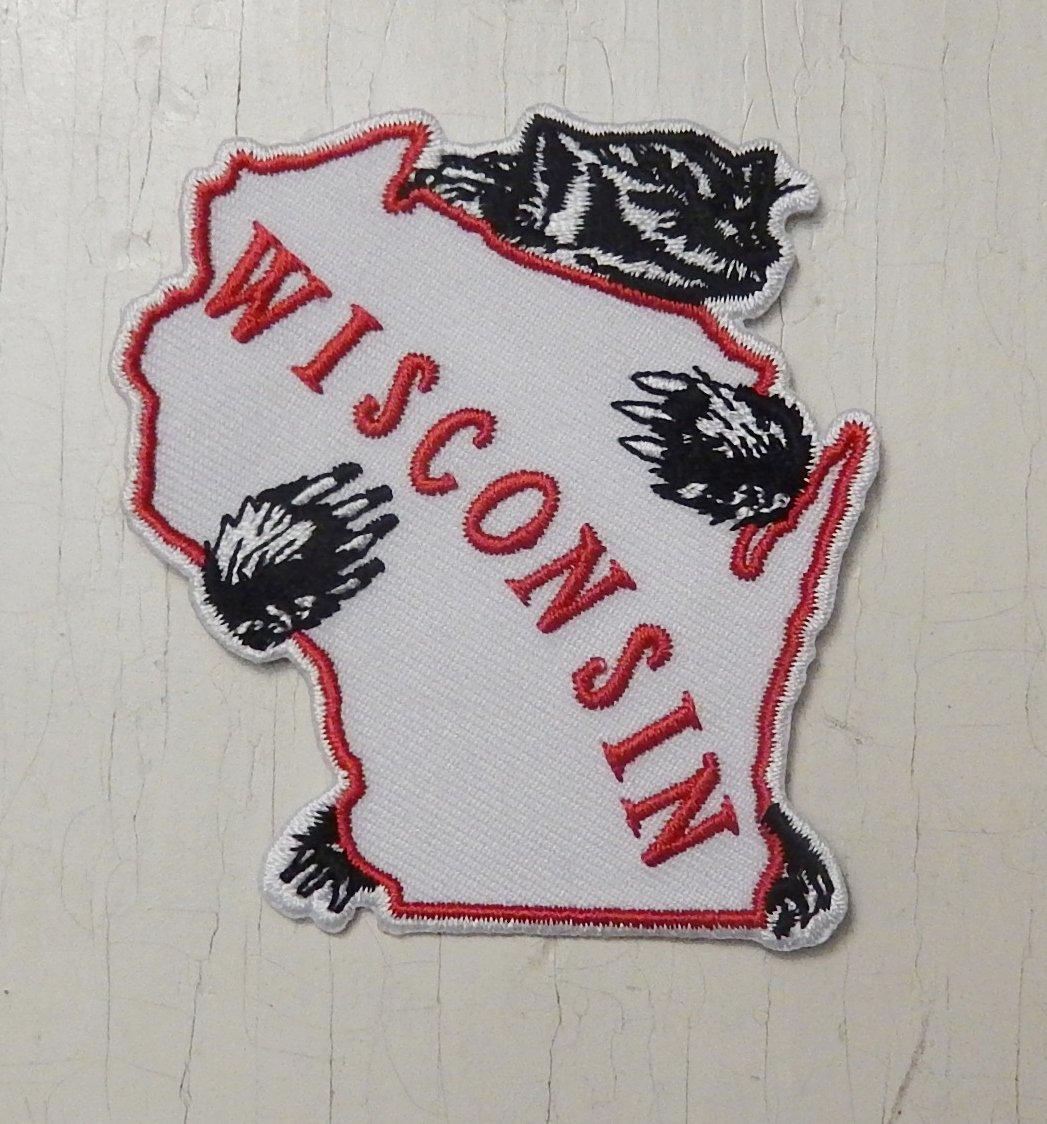 Badger Hugging Wisconsin Patch