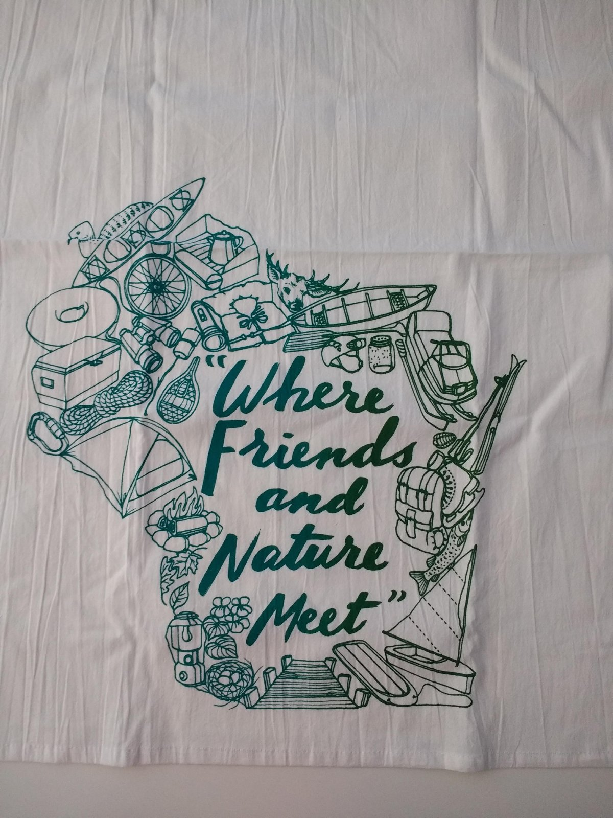 Friends and Nature Tea Towel