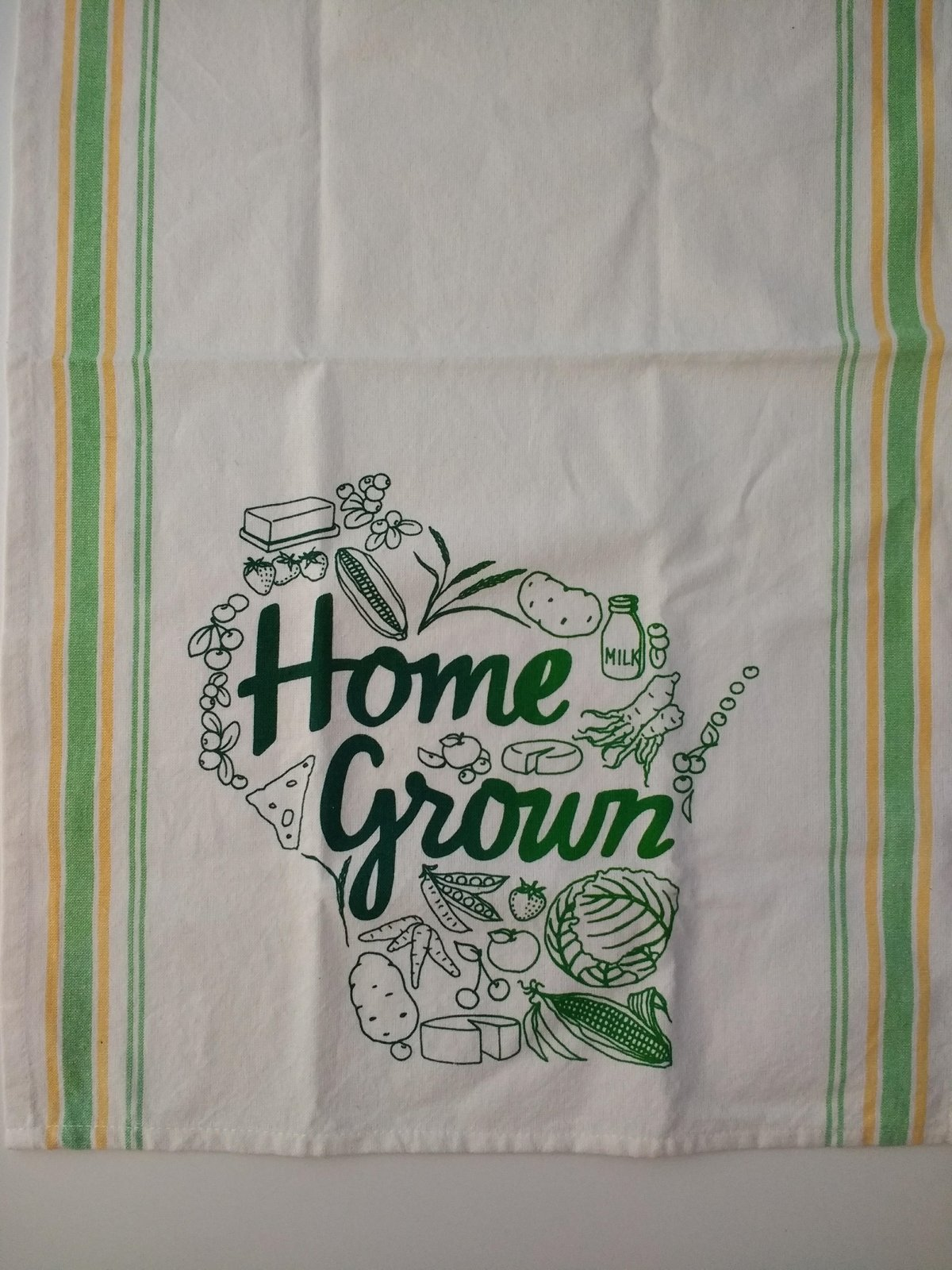 Home Grown Tea Towel