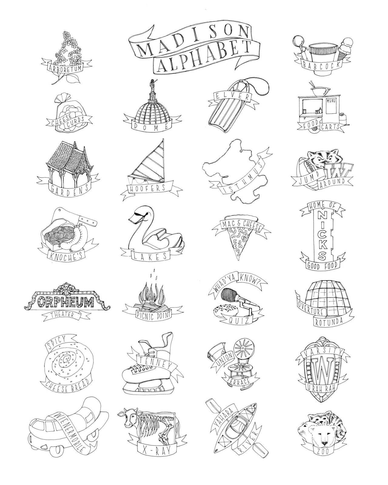 Madison Alphabet Print