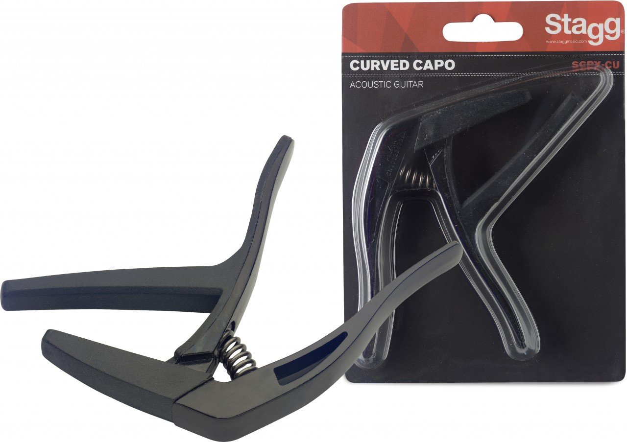 STAGG SCPX-CU Curved Trigger Capo - Acoustic/Electric
