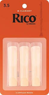Rico Bb Clarinet Reeds 3/Pack