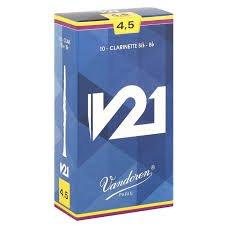 Vandoren V21 Bb Clarinet Reeds Box of 10