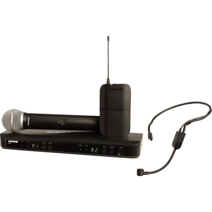 Shure PG58/Headset Dual UHF Wireless System