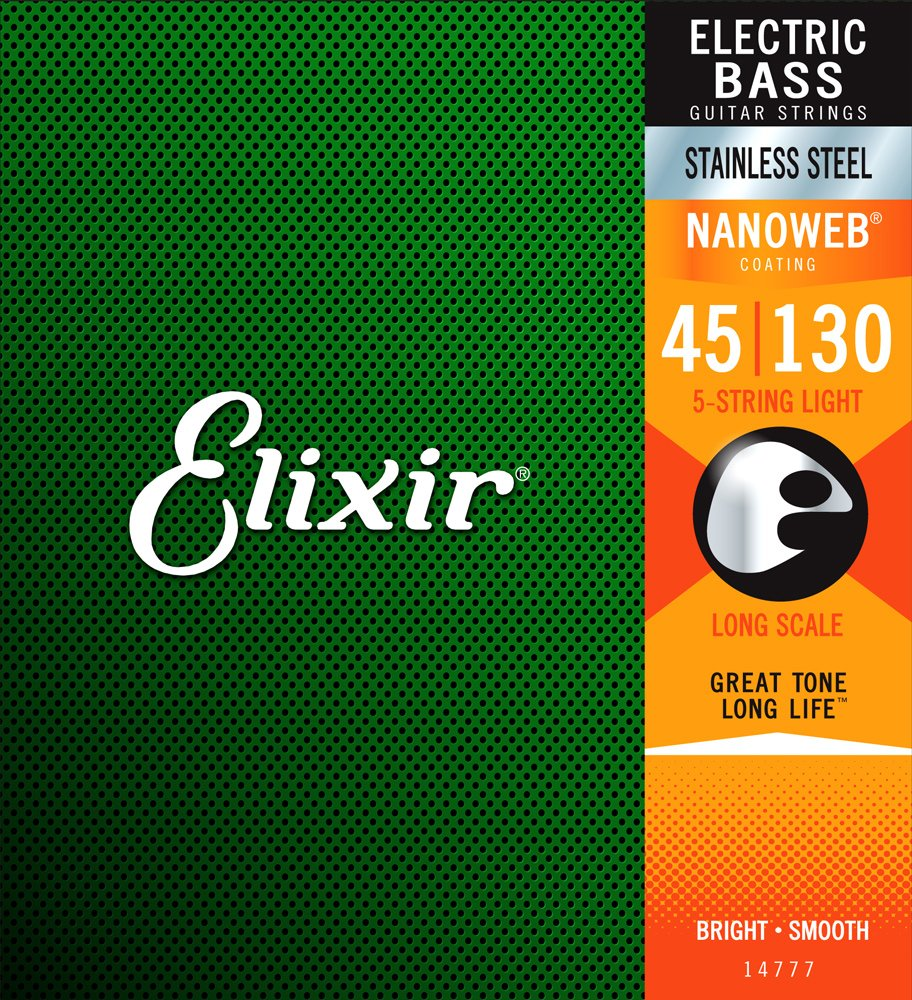Elixir Stainless Steel 5 String Bass