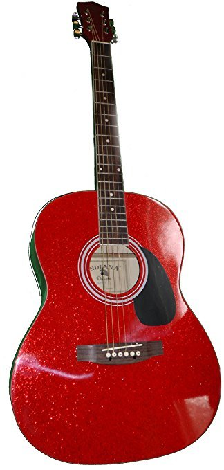 Indiana Ruby Red Sparkle Acoustic