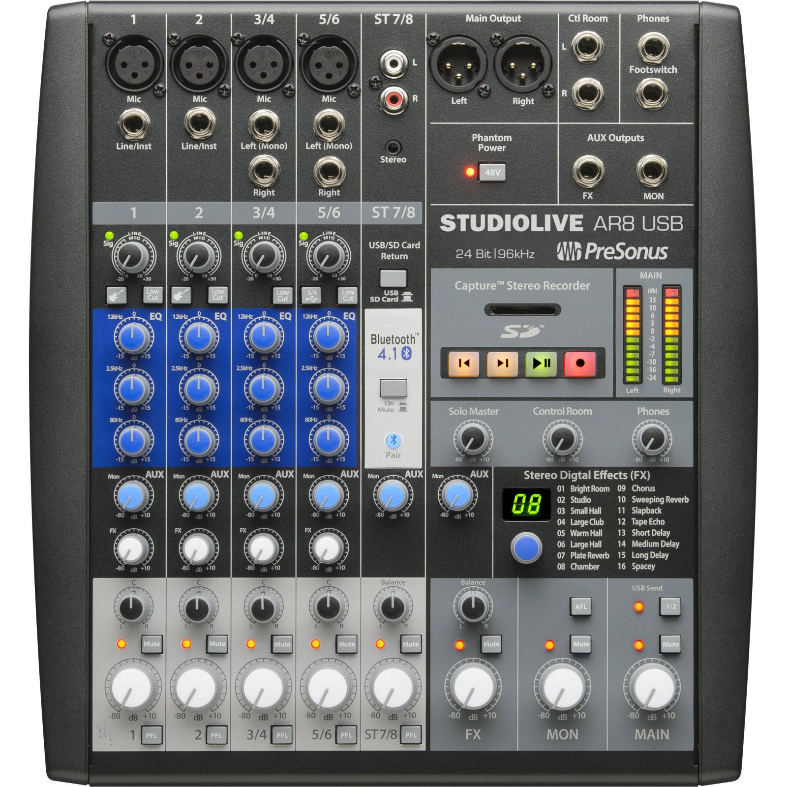 PreSonus 8-Channel Hybrid Digital/Analog Mixer STUDIOAR8