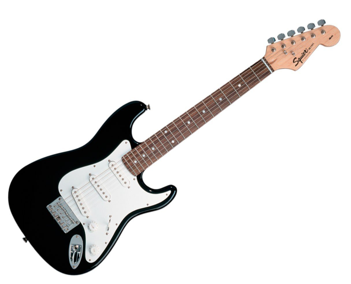 Squier Black Mini Stratocaster Rosewood Fingerboard