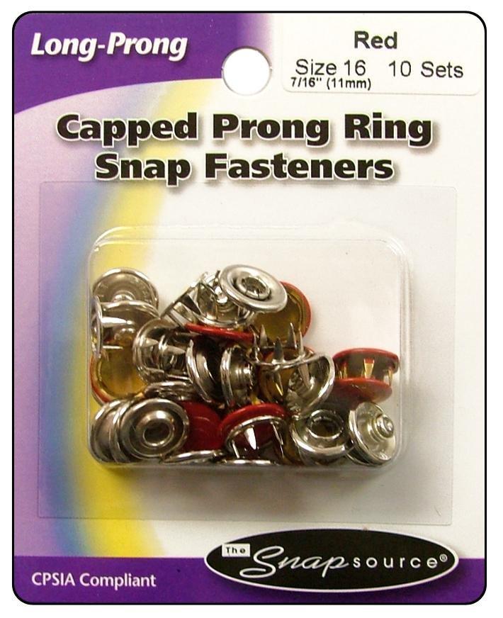 Cap Prong Set-sz16 Fl Red (10)
