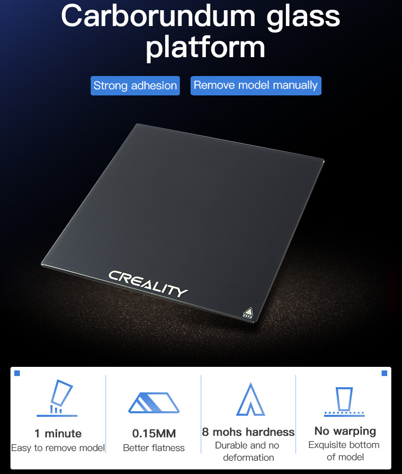 3D Printer Accessory, Carborundum Glass Platform