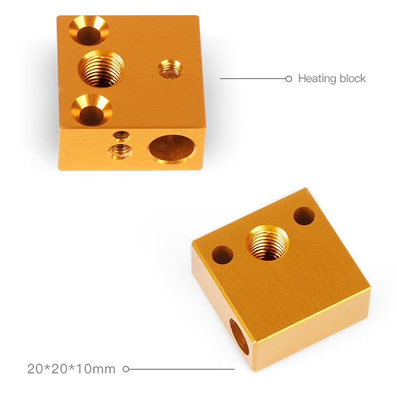 3D Printer Parts Heater Block Kit