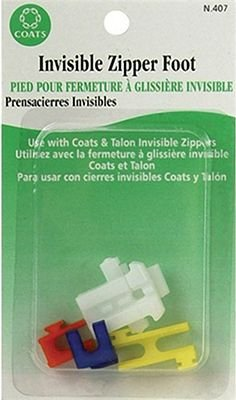 Zipper Foot, Invisible, Poly, Universal