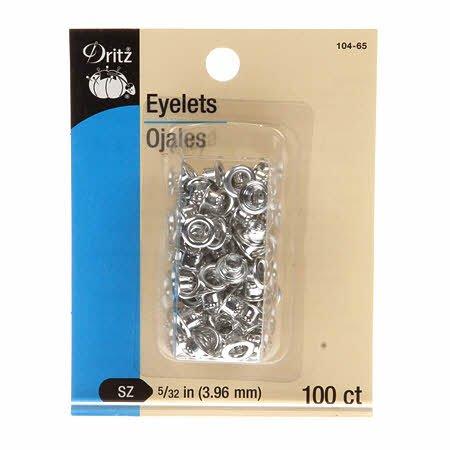 Eyelets 5/32'' Silver 100ct