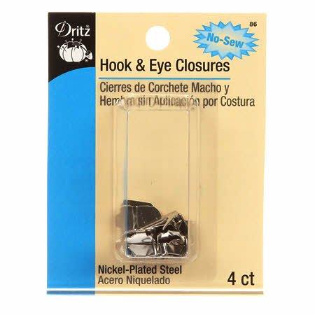 No-Sew Hook & Eye Closures