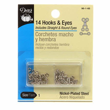 Hooks & Eyes Size 1   14count