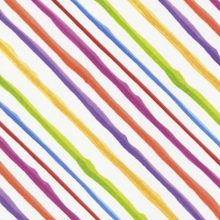 *18* 617 692-201 White Quirky Bias Stripe