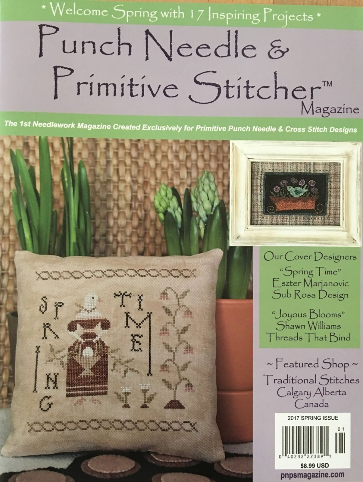 Spring 2017 Punch Needle & Primitive Stitcher Magazine