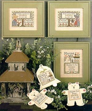 -17- 218 Wedding & Birth Samplers IV by the Praire Schooler
