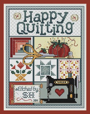 -10- 421 Happy Quilting by Sue Hillis Designs