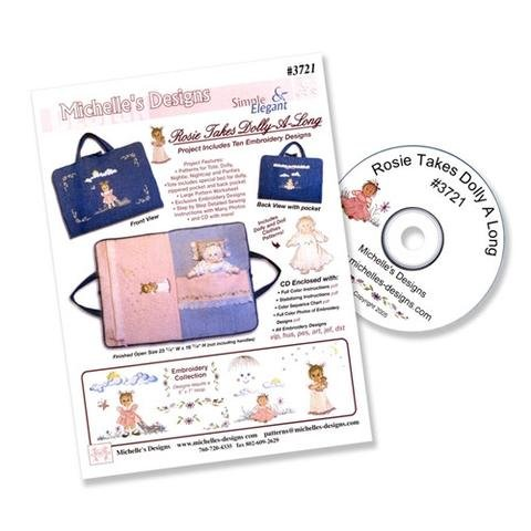 Rosie Takes Dolly -A-Long Machine Embroidery CD